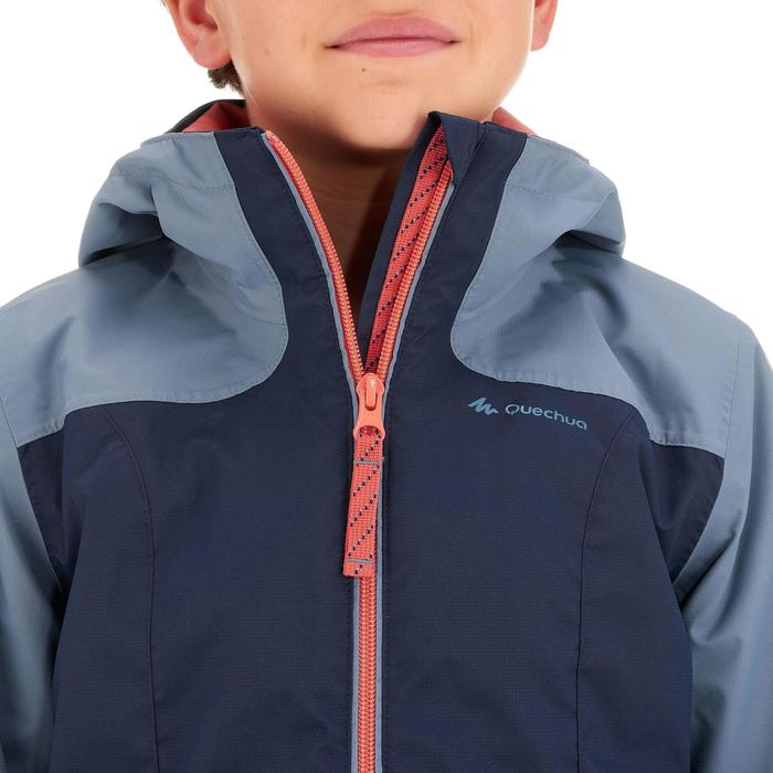 Hike 500 3-in-1 Girls' Hiking Warm Waterproof Jacket - Blue
