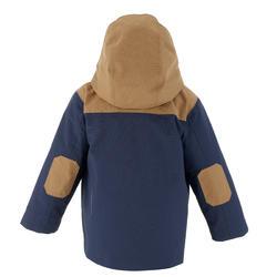 Waterdichte warme jas voor trekking jongens Hike 500 3-in-1 marineblauw - 1033375