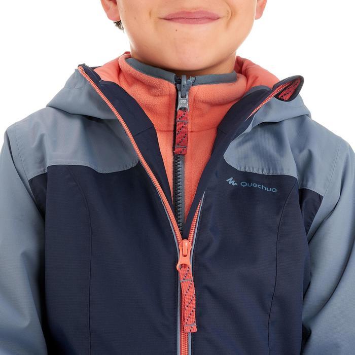 Veste chaude imperméable randonnée fille Hike 500 3en1 - 1033381