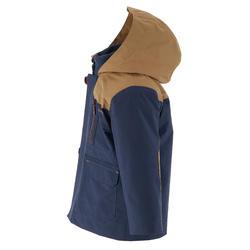 Waterdichte warme jas voor trekking jongens Hike 500 3-in-1 marineblauw - 1033389