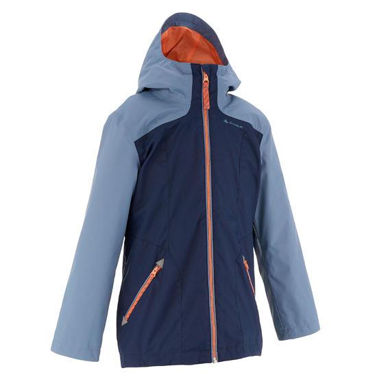 Warme en waterdichte 3-in-1 meisjesjas voor trekking Hike 500 - 1033416