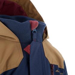 Waterdichte warme jas voor trekking jongens Hike 500 3-in-1 marineblauw - 1033437