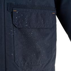 Waterdichte warme jas voor trekking jongens Hike 500 3-in-1 marineblauw - 1033438
