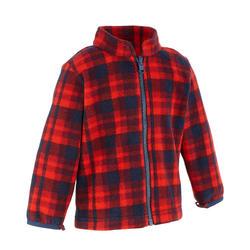 Waterdichte warme jas voor trekking jongens Hike 500 3-in-1 marineblauw - 1033452