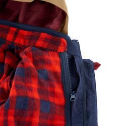 Waterdichte warme jas voor trekking jongens Hike 500 3-in-1 marineblauw - 1033482