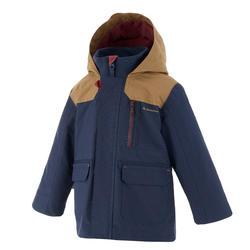 Waterdichte warme jas voor trekking jongens Hike 500 3-in-1 marineblauw - 1033492