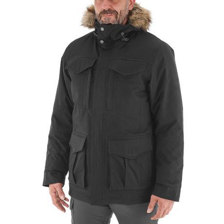 Veste de randonn e neige homme sh900 chaude noir quechua - Parka homme decathlon ...