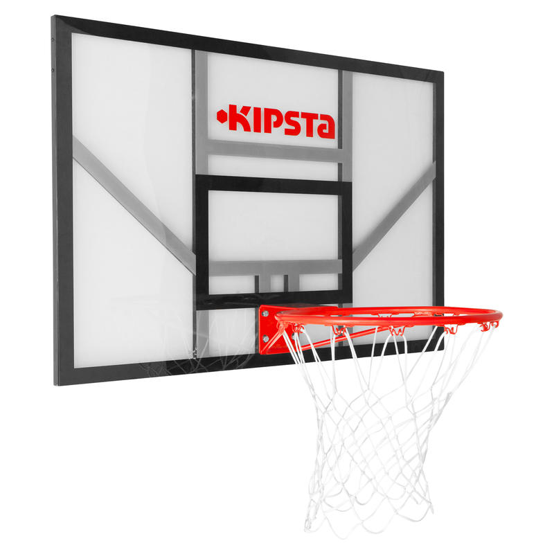 B700 Kids'/Adult Wall-Mounted Basketball Basket. Quality backboard.