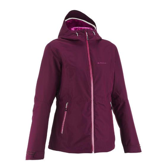 3-in-1 damesjas voor trekking RainWarm 500 - 1033575