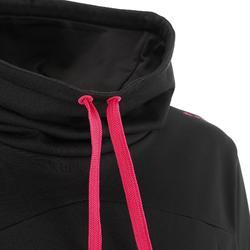 Camiseta de manga larga de senderismo nieve mujer SH100 warm negro