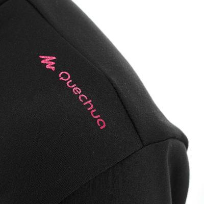 SH100 חולצת טריקו חמה עם שרוול אורך לטיולים נשים - שחור