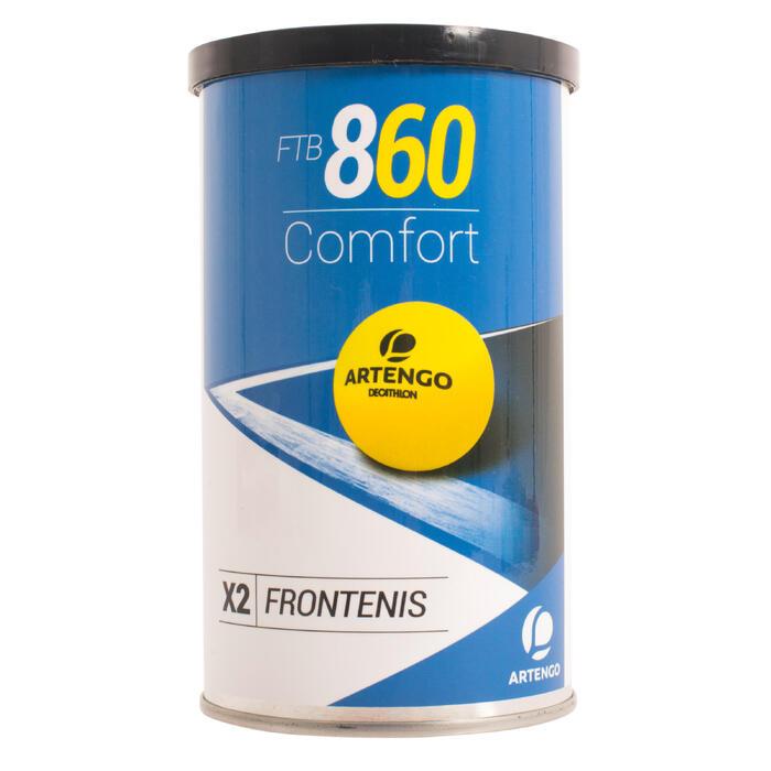 BALLE DE FRONT TENNIS FTB 860 JAUNE - 1034028