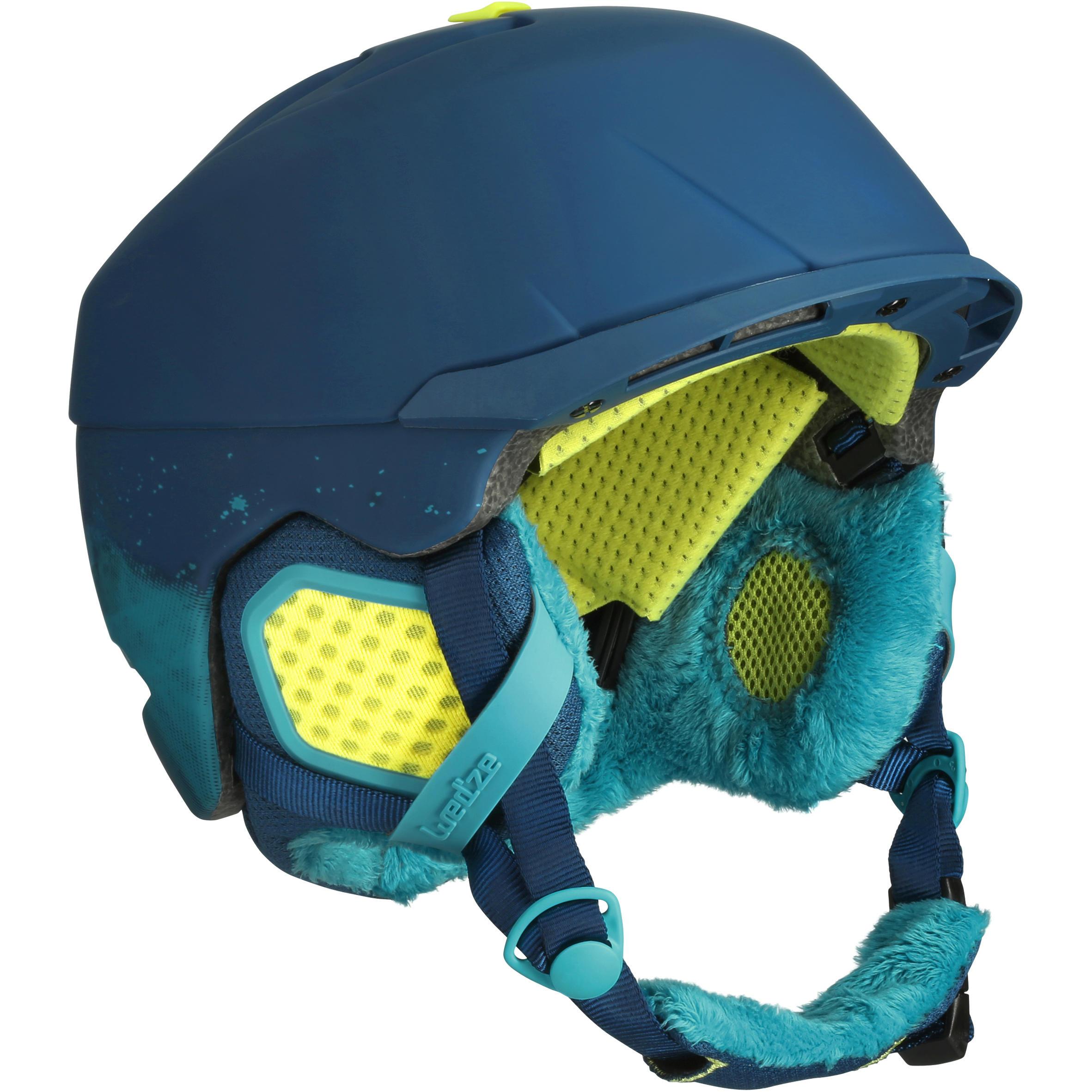 Wed'ze Ski- en snowboardhelm voor kinderen Carv 700 MIPS blauw thumbnail