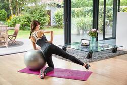 Fitnesskuitbroek Shape Booster met cellulite vermindering voor dames zwart - 1034232