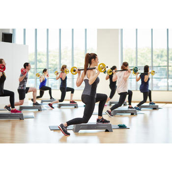 Leggings reducción celulitis fitness cardio mujer negro Shape Booster Domyos
