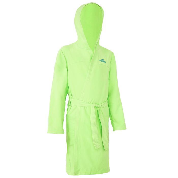 Peignoir microfibre natation enfant avec capuche, poches et ceinture - 1034291