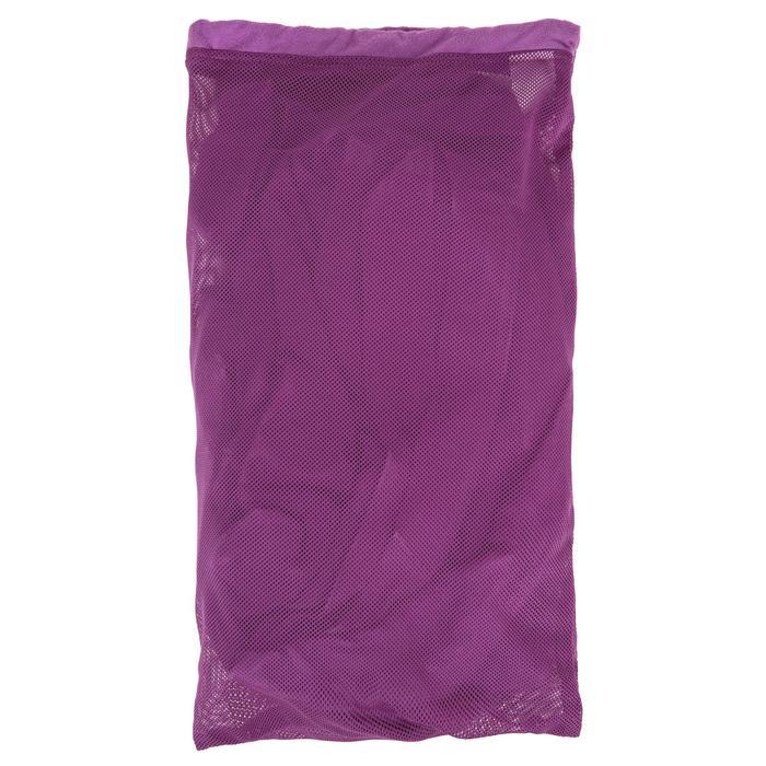 Peignoir femme microfibre violet avec capuche, poches et ceinture