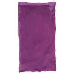 Women's Microfibre Bathrobe with Hood, Pockets, and Belt - Purple