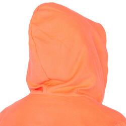 Badjas microvezel dames violet met kap, zakken en strikceintuur - 1034312
