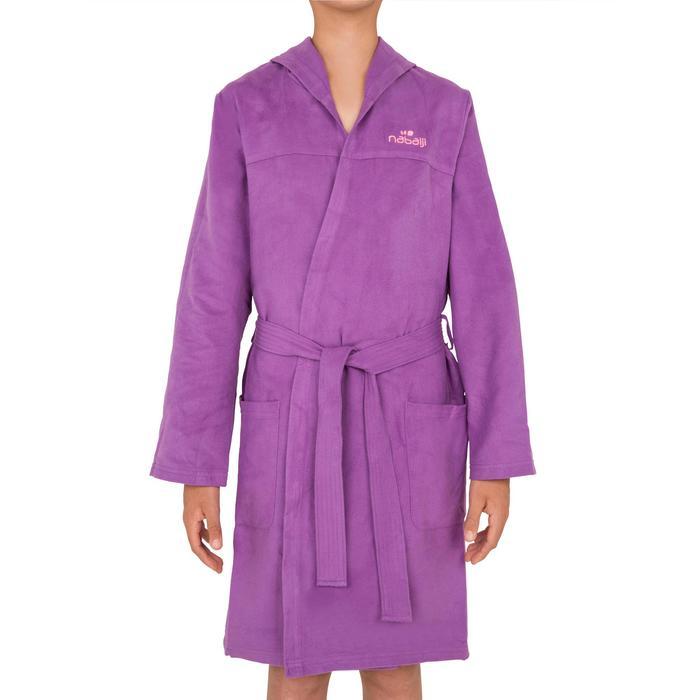 Peignoir microfibre natation enfant avec capuche, poches et ceinture - 1034315