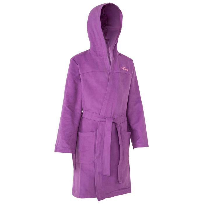 Peignoir microfibre natation enfant avec capuche, poches et ceinture - 1034334