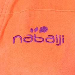 Badjas microvezel dames violet met kap, zakken en strikceintuur - 1034336