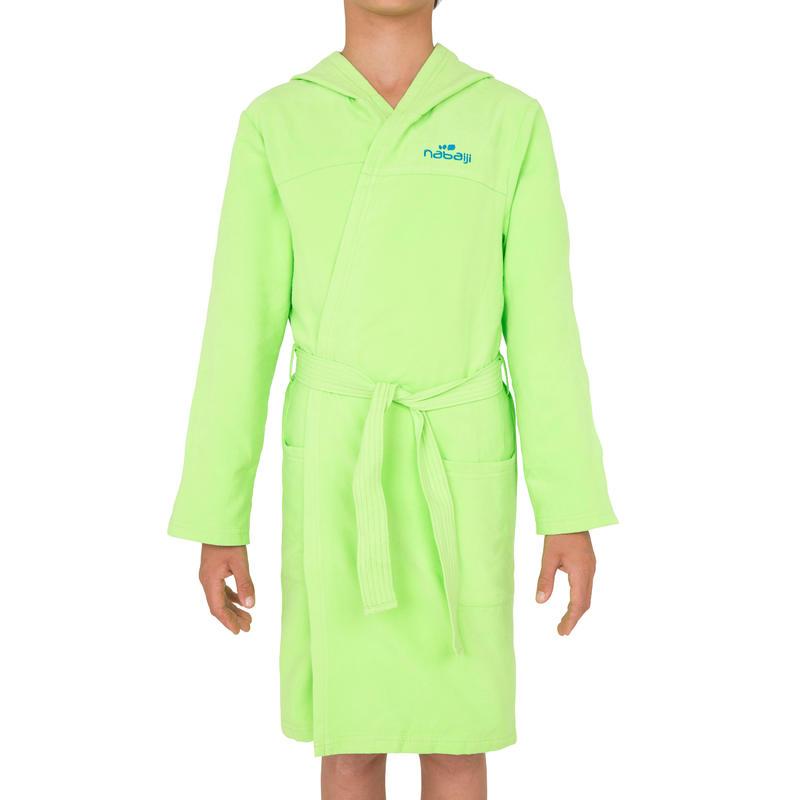 peignoir microfibre natation enfant vert avec capuche poches et ceinture decathlon martinique. Black Bedroom Furniture Sets. Home Design Ideas