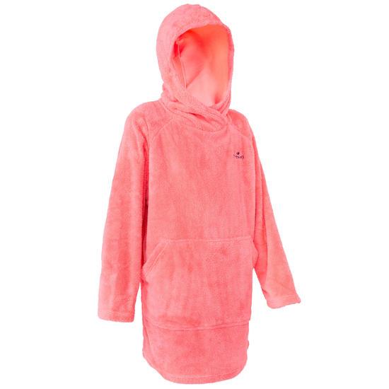 Zwemhoodie microvezel zacht kindermodel roze met kap - 1034341