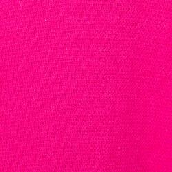 Lichte zwembadjas katoen dames roze met strikceintuur en kap - 1034366