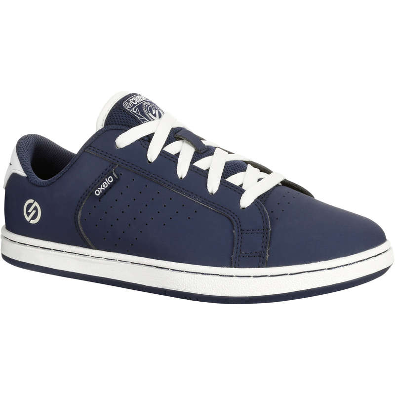 KIDS SKATEBOARD SHOES Skateboarding and Longboarding - Crush Beginner II - Navy Blue OXELO - Skateboarding and Longboarding