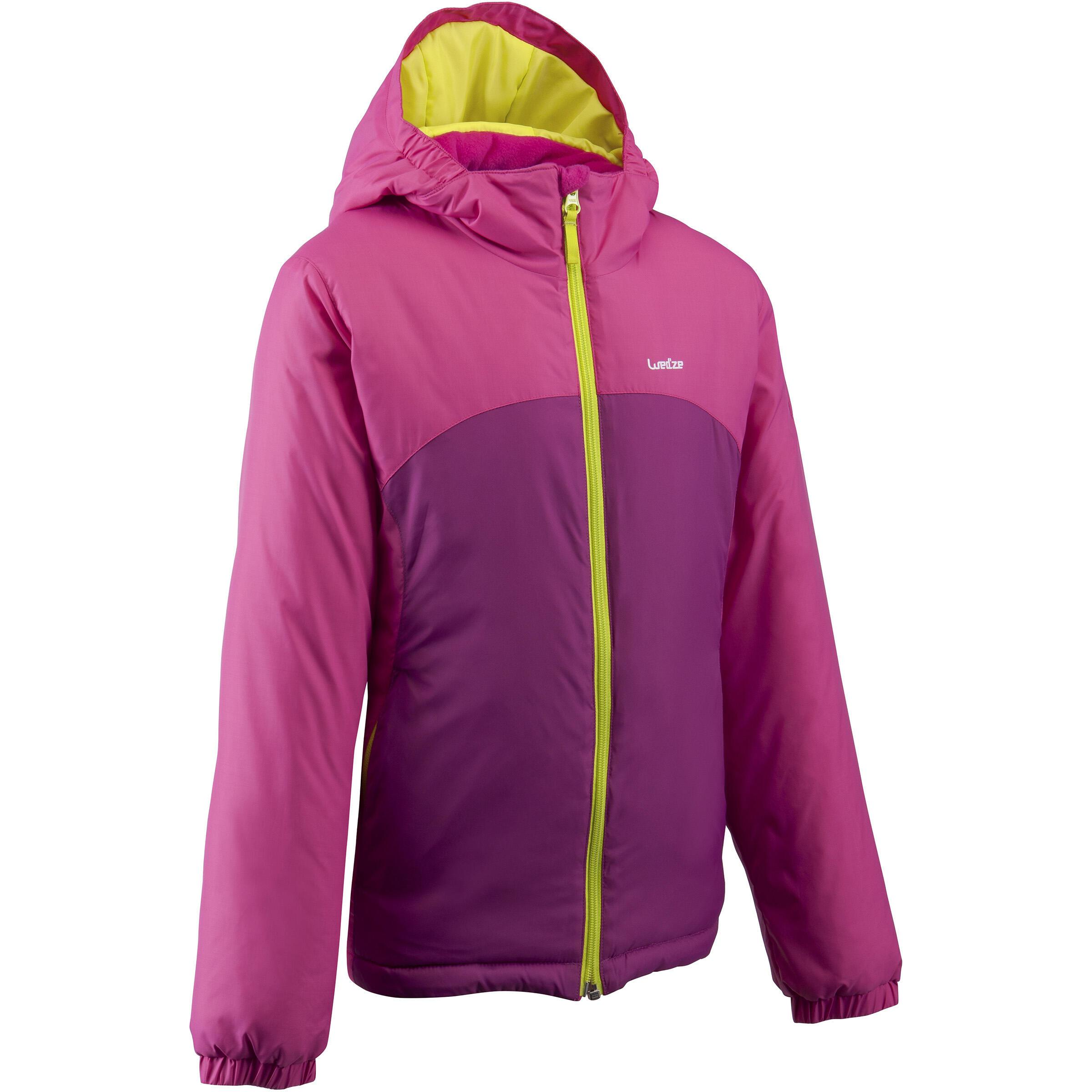 เสื้อแจ็คเก็ตเด็กสำหรับใส่เล่นสกีรุ่น SKI-P JKT 100 (สีชมพู)