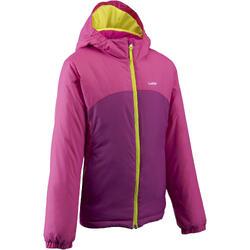 兒童滑雪外套100粉紅色
