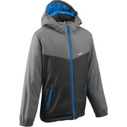 Jongens ski-jas Firstheat zwart/grijs