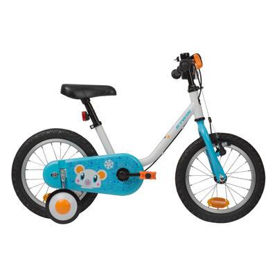 دراجة أطفال 14 بوصة (من 3 إلى 5 سنوات) فئة 100 شكل جليدي B'TWIN