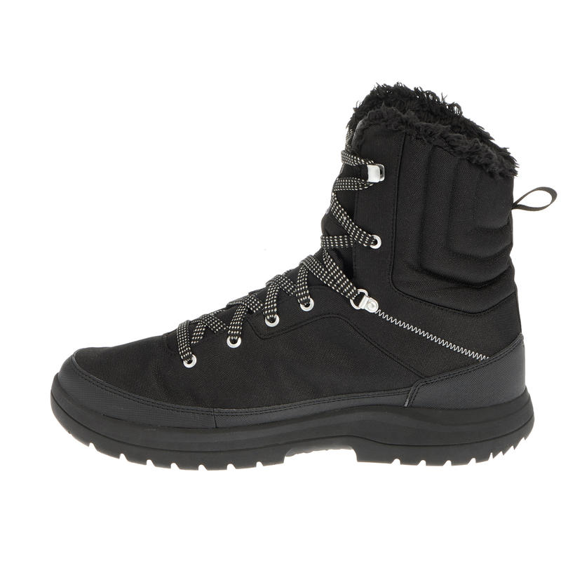 Man high hiking snow boots.SH100 - Black