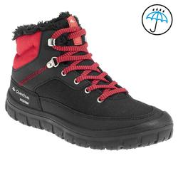 Botas de senderismo nieve júnior SH100 warm cordones mid negro