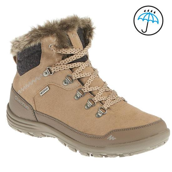 Warme en waterdichte damesschoenen voor trekking Arpenaz 500 mid Warm - 1034828