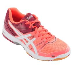 Schoenen voor badminton en squash, Asics Gel Rocket dames, koraalrood