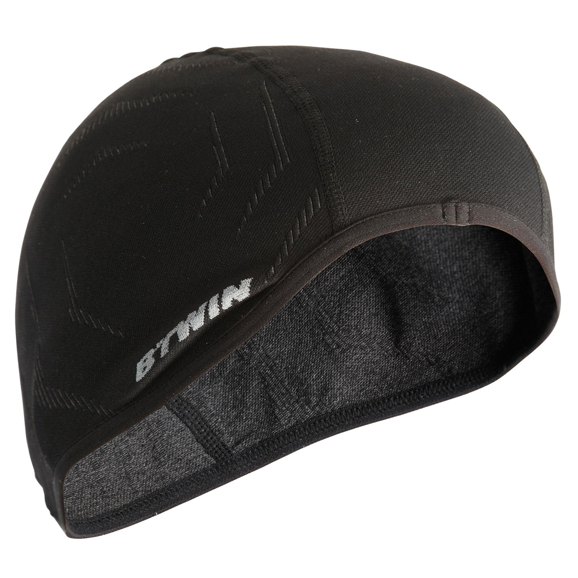 500 Seamless Cycling Helmet Liner - Black