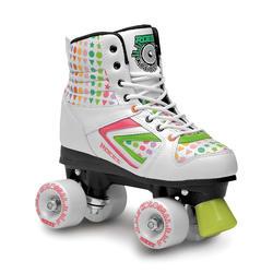 Rolschaatsen fitness Kolossal wit/groen/roze