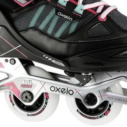 Fitness skeelers kinderen Fit 5 grijs roze