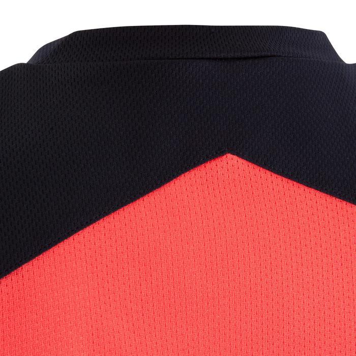 Camiseta baloncesto niños B500 azul marino rosa