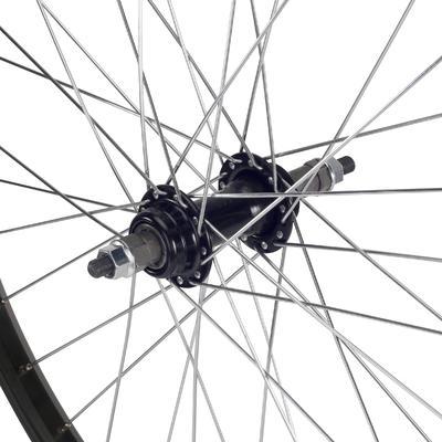 Roue vélo enfant 24_QUOTE_ arrière simple paroi roue libre à écrous noir