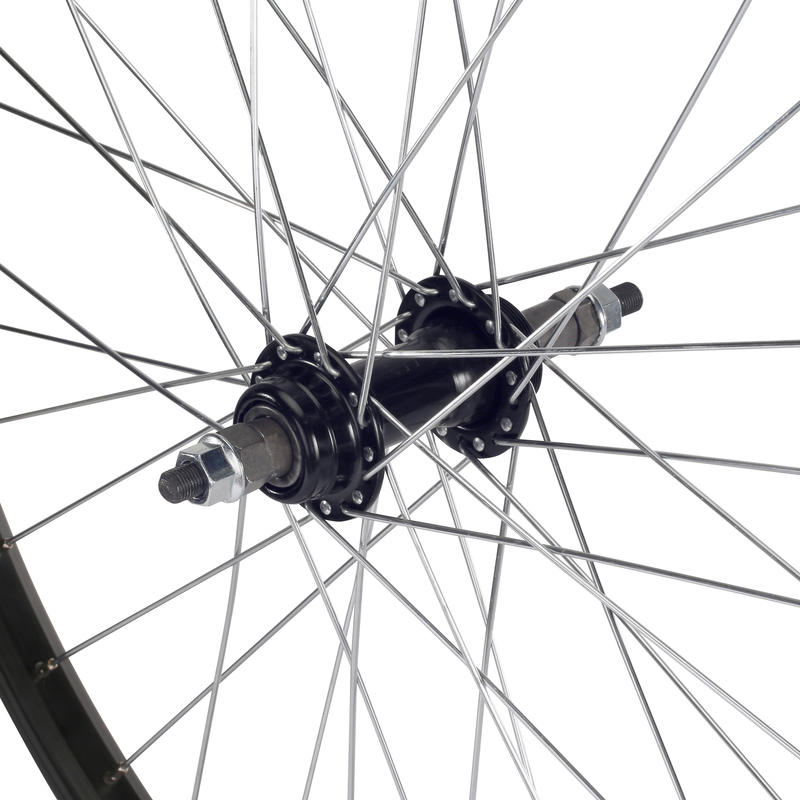 24_QUOTE_ Junior Single-Walled Rear Wheel with Nuts - Black