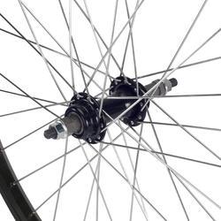 Junior freewheel achterwiel 24'' enkelwandig zwart met moeren - 1035411