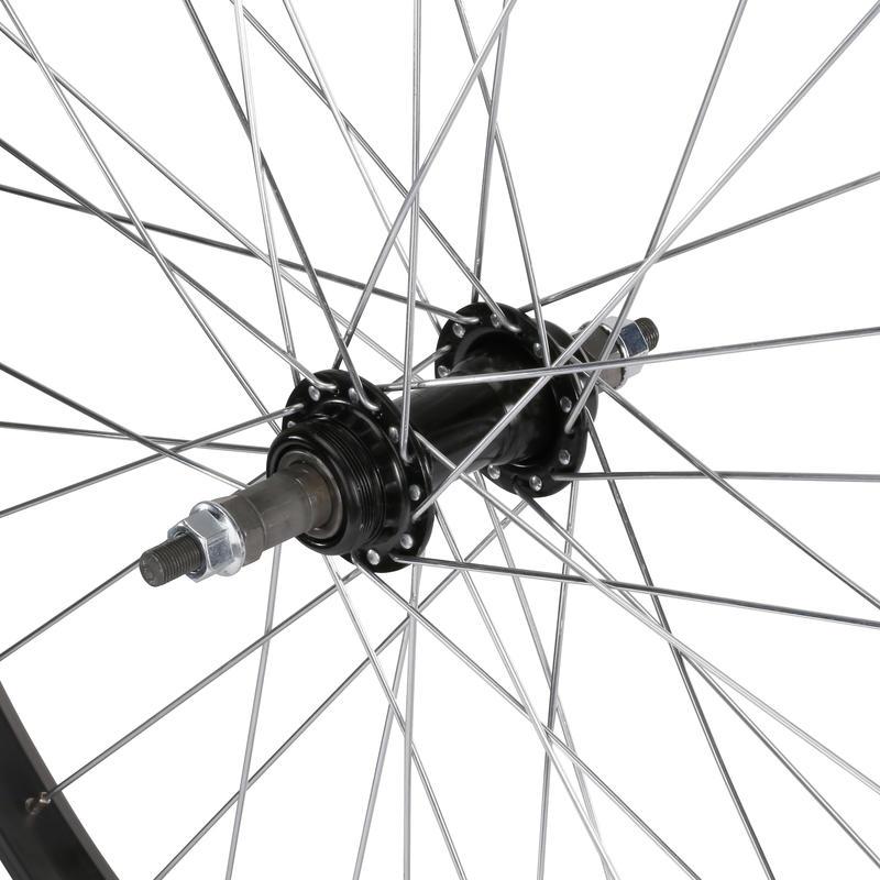 Kids Wheel 24_QUOTE_ Rear Single Wall Rim Freewheel with Locknut - Silver