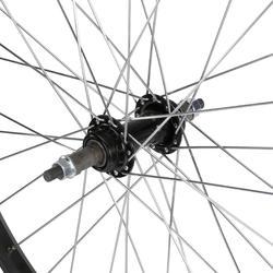 Junior freewheel achterwiel 24'' enkelwandig zwart met moeren - 1035413