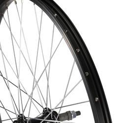 Junior freewheel achterwiel 24'' enkelwandig zwart met moeren - 1035414