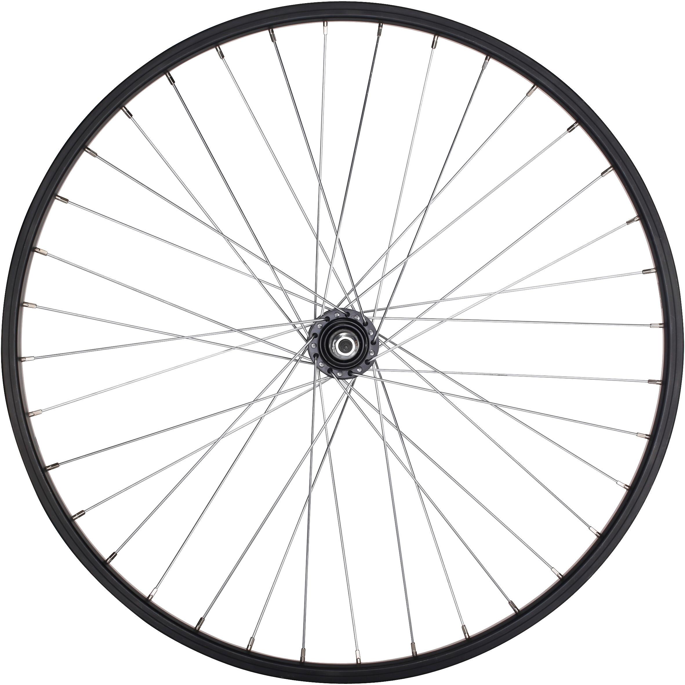 B'twin Junior freewheel achterwiel 24'' enkelwandig zwart met moeren