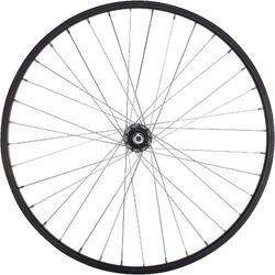 Junior freewheel achterwiel 24'' enkelwandig zwart met moeren